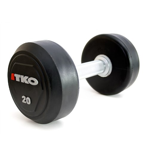 TKO 55-100 lb Solid Steel Urethane Dumbbell Set