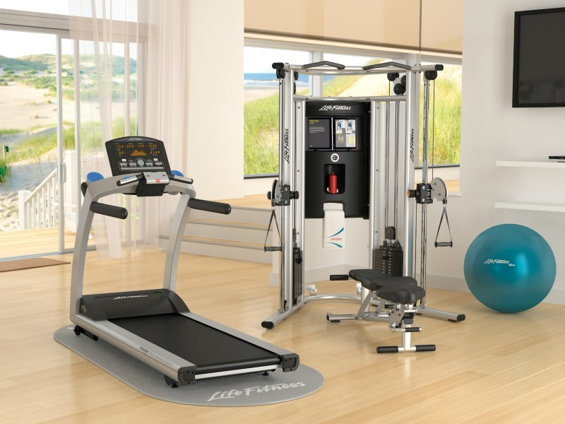 Fitnesszone life fitness g7 home gym for Arredamento palestra