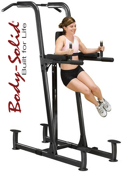 Body Solid Knee Raise Dip Amp Chin Up Station Fitnesszone