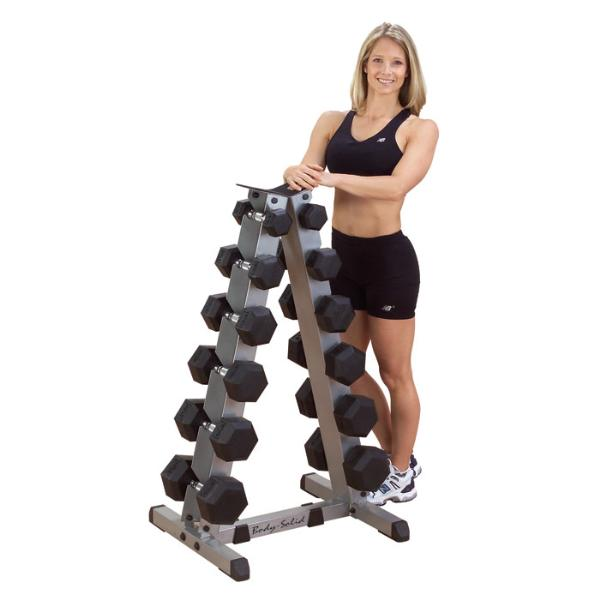heavy dumbbell set with rack