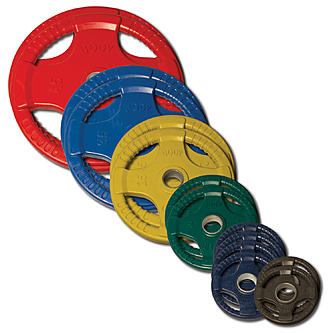 Body Solid 255 lb. Colored Rubber Grip Olympic Weight Set