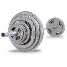 Body-Solid 300 lb Steel Grip Olympic Plate Set