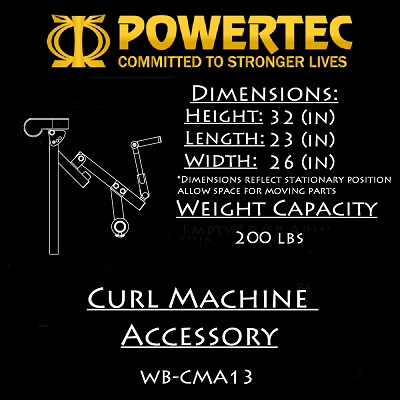 Powertec Curl Machine Accessory (WB-CMA13)