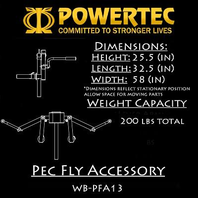Powertec Pec Fly Accessory (WB-PFA16)