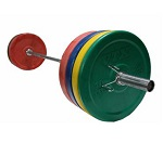 VTX 230lb Colored Bumper Plate Weight Set OSS-275SBP