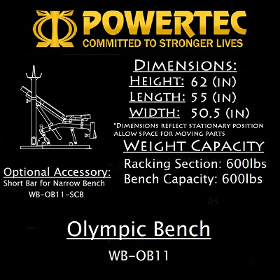 Powertec Olympic Bench WB-OB15