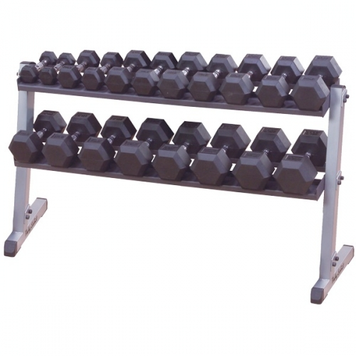 Body Solid 2 Tier Horizontal Dumbbell Rack GDR60