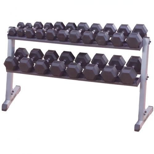 Body Solid 2 Tier Horizontal Dumbbell Rack GDR60