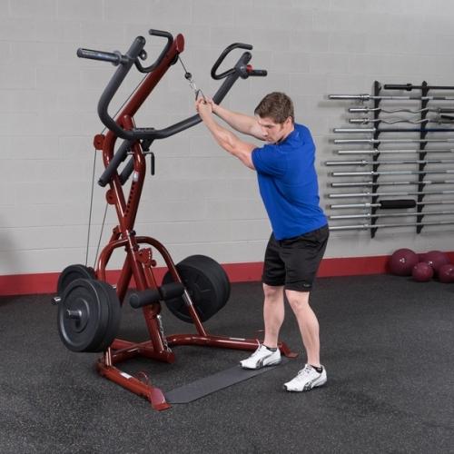 Fitnesszone body solid corner leverage gym glgs