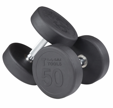 Body-Solid SDP Rubber Round Dumbbell Set 35-50lbs