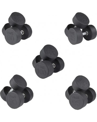 Body-Solid Rubber Round Dumbbell Set 5-100