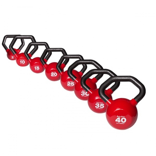 Body-Solid Vinyl Dipped Kettlebell 5-40lb