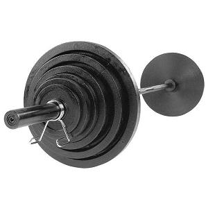 Body-Solid 300 lb Cast Olympic Plate Set (Black)