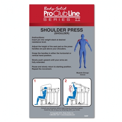 Body-Solid Pro Clubline Series II Shoulder Press S2SP-3 w/310lb Weight Stack