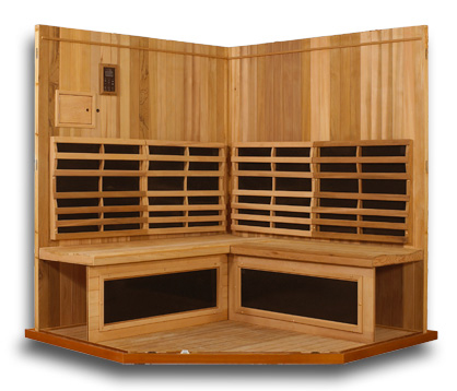Clearlight Sanctuary C 4 Person Corner Cedar Sauna