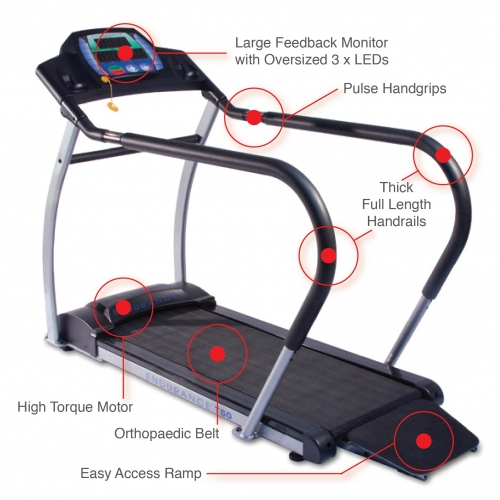 Endurance T50 Cardio Walking Treadmill
