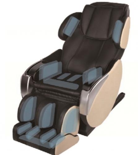 Dynamic Luxury Massage Chair Santa Monica-Espresso-Ivory