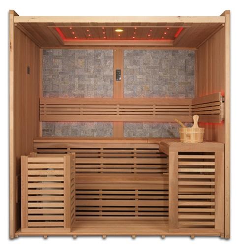 Golden Designs 4-6 Person Luxury Traditional Steam Sauna -GDI-7689-01L