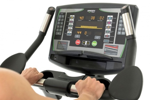 "Green Series 7000-G1 Upright Bike with 16"" LED Console"