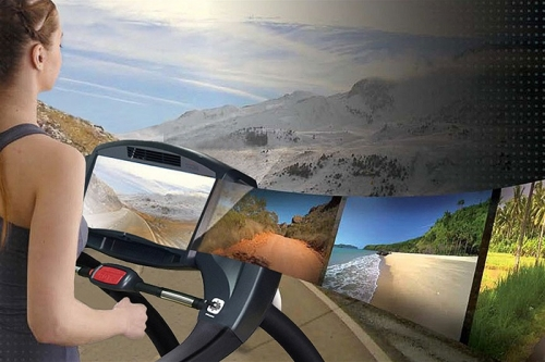 "Green Series 7000E-G1 Treadmill with 16"" Touchscreen"
