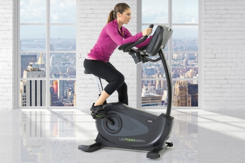 """Green Series 7000E-G1 Upright Bike with 16"""" Touchscreen"""
