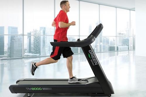 "Green Series 8000E-G Treadmill with 19"" Touchscreen"