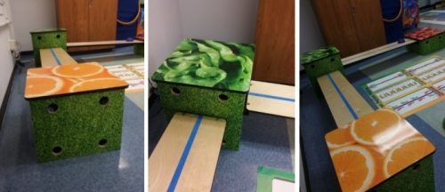 KidsFit 527 Veggie Obstacles Set of 3