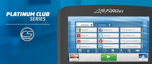 Life Fitness Platinum Club with Discover SE Tablet  Console