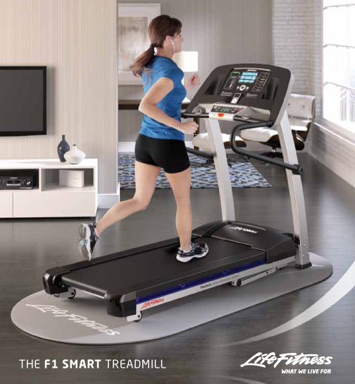 Stress Test Treadmill Time: FitnessZone: Life Fitness F1 Smart Treadmill