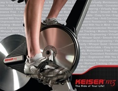 Keiser M3+ Indoor Cycle with Console