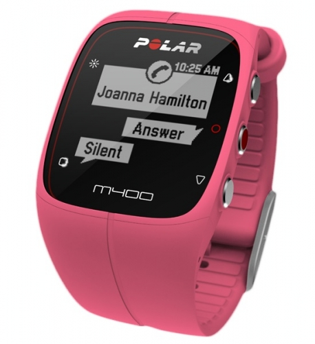 Polar M400 Pink GPS Running Watch with Heart Rate