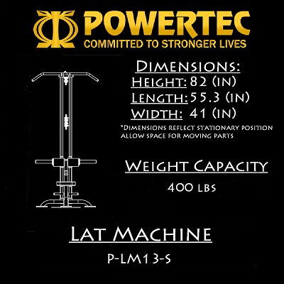 Powertec Lat Machine P-LM16