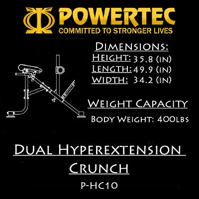 Powertec Dual Hyperextension Crunch P-HC-10