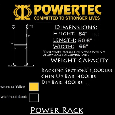 Powertec WB-PR14 Power Rack (Yellow)