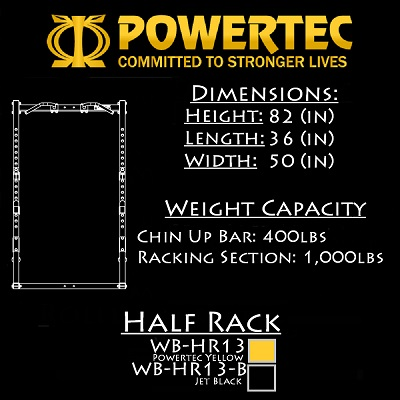 Powertec Workbench Half  Rack WB-HR13