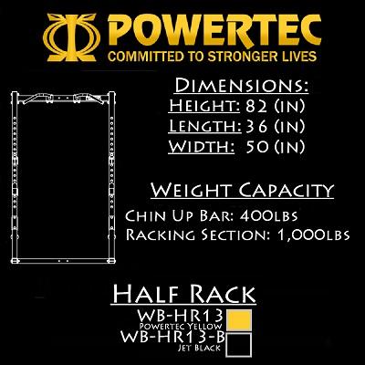 Powertec Workbench Half  Rack WB-HR13