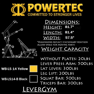 Powertec Workbench Levergym WB-LS16-YB