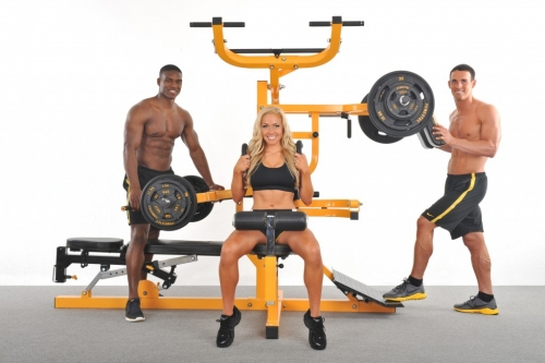 Powertec Workbench Multi System WB-MS14 Yellow with Isolateral Arms