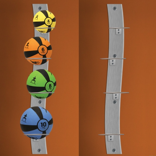 Prism Wall Mounted Medicine Ball Rack Package