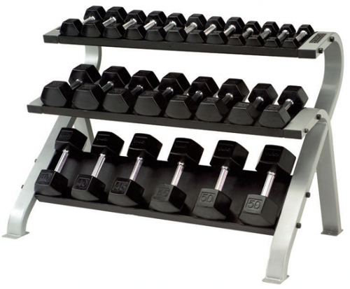 TKO 3-Tier Horizonal Dumbbell Rack