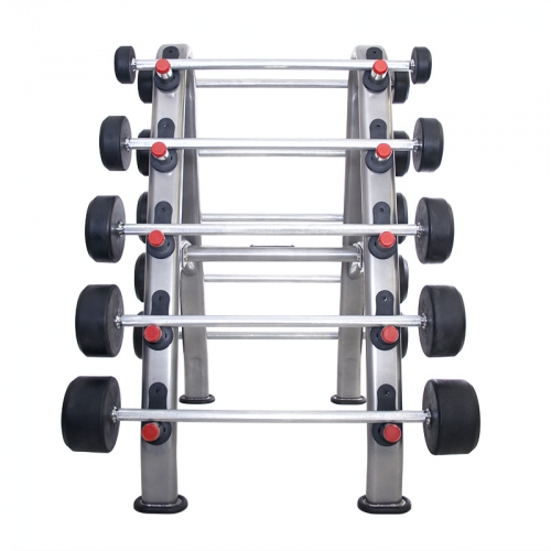 TKO Barbell Rack, Silver Metallic