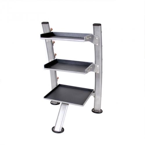 TKO Accessory Rack, Silver Metallic