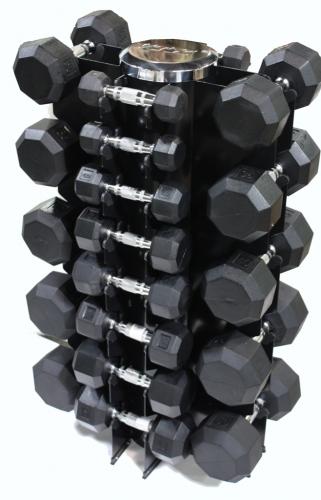 Troy 12 Sided Rubber Encased Dumbbell 30-50lb Set TSD-030-050R