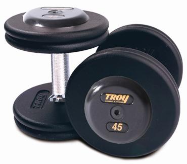 Troy Pro Style Black Dumbbells 5-150lb Set PFDC-R
