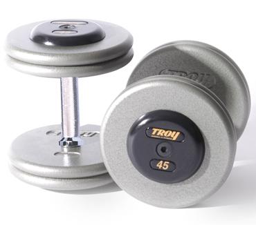 Troy Iron Pro-Style Hammertone Dumbbell Set 55-100 HFD-R