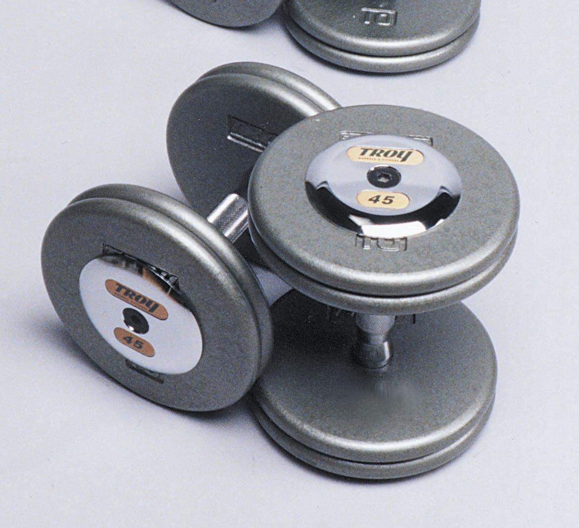Troy Iron Pro-Style Hammertone Dumbbell Set 5-50 HFD-C