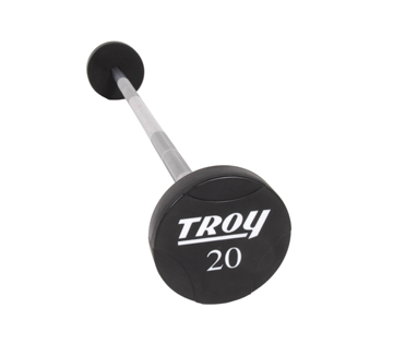 Troy Solid Urethane Round Head Straight Barbell Set 20-110lbs TSB-020-110-US
