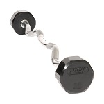Troy Solid Urethane 12 Sided Curl Barbell 20-110lbs TZB-020-110-U