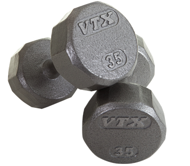 Troy VTX Pro Cast Iron Dumbbells Set 3-25lbs SD-V-3-25