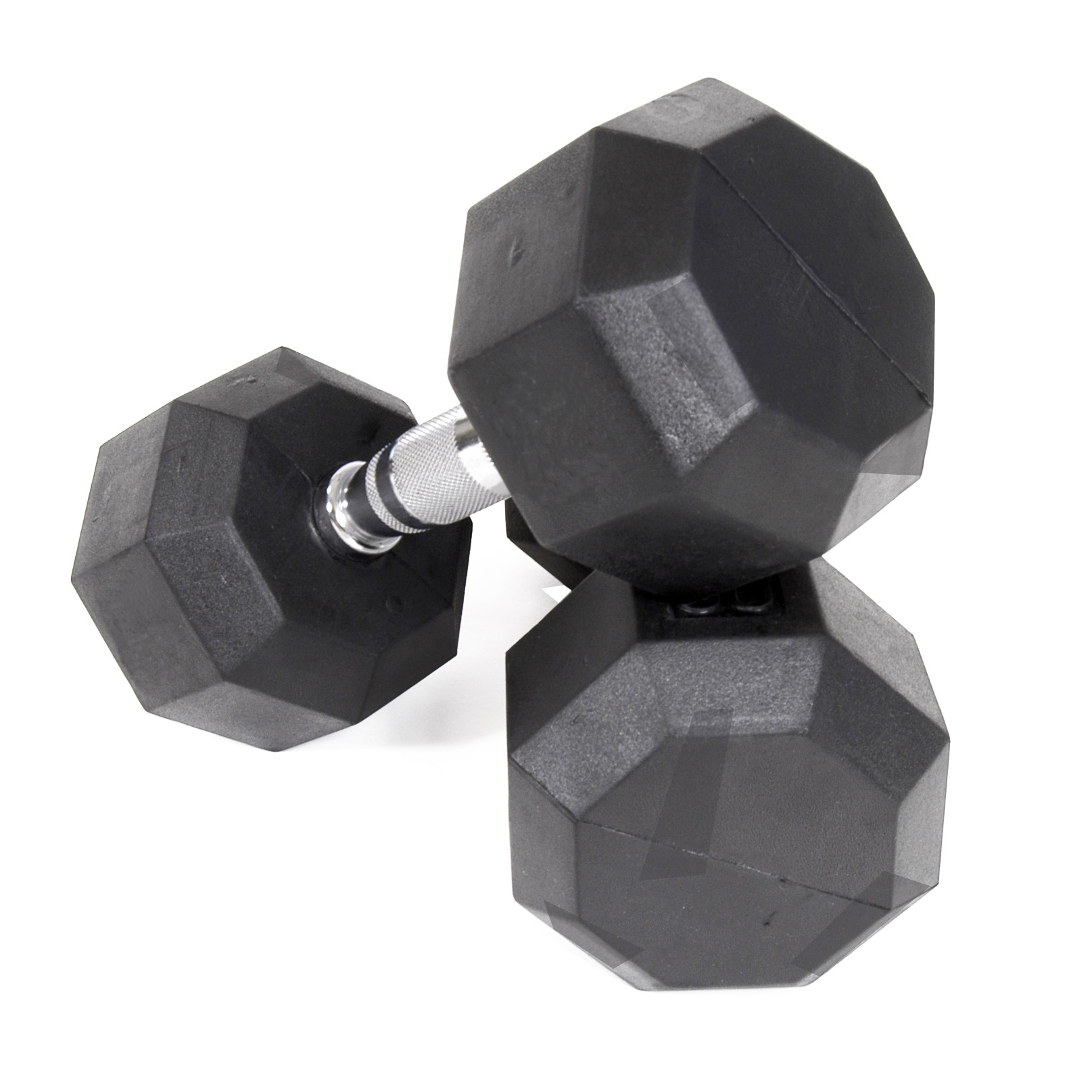 Troy VTX 8 Sided Rubber Encased Dumbbells 3-25lbs Set SD-003-025-R